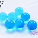 ลูกปัดแก้วมูราโน่ ไม่มีรู ทรงกลม สีฟ้าใส 10 มิล(1ชิ้น)