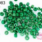 ลูกปัดจีน กลม สีเขียวด้าน 4มิล #L