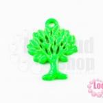 จี้โรเดียม ต้นไม้ สีเขียว 27 มิล