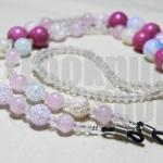 DiY idea 5 : สายคล้องแว่นพลอยชมพู Pink and Pearl Romance Glasses Chain