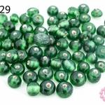 ลูกปัดแก้ว ทรงกลม สีเขียว (ใส) 5มิล(1ขีด/410ชิ้น)