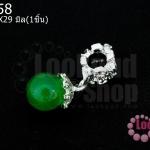 จี้หินตาแมว สีเขียว 10X29มิล(1ชิ้น)