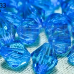 คริสตัลพลาสติก สีฟ้า 10มิล (274เม็ด)