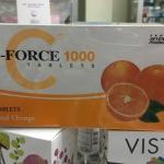 C-FORCE 1000MG วิตามินซี 1000มก. ชนิดแผง 60 เม็ด เสริมสร้างภูมิคุ้มกัน ป้องกันภูมิแพ้