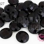ลูกปัดพลาสติก ทรงกลม สีดำ 12มิล(1ขีด/245ชิ้น)