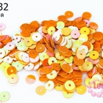 เลื่อมกลม สีส้มเหลือบ 6มิล (5กรัม)
