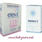 วิตามินสำหรับเตรียมตั้งครรภ์ Elevit with Iodine -100 เม็ด และ วิตามินเตรียมความพร้อมสำหรับว่าที่คุณพ่อ Menevit - 90 เม็ด (แพ็คคู่สุดประหยัด)