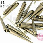 หมุดแหลมทองเหลือง 5X34มิล (290ชิ้น)