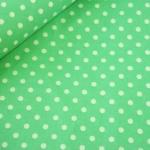 ผ้าฝ้ายญี่ปุ่น ลายจุดขาวพื้นเขียว ขนาด 3 mm จาก Lecien ตัดเสื้อได้ หรือ ทำผ้ารองซับๆใน สำหรับกระเป๋า กุ้นขอบ ฯลฯ เนื่อดีราคาประหยัดค่ะ