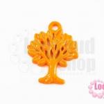 จี้โรเดียม ต้นไม้ สีส้ม 27 มิล