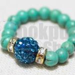 DiY idea 6 : แหวนผลึกการะเวก Turquoise Stone and Crystal Ring