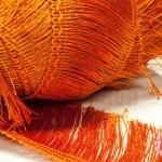 พู่ไหมเทียม เส้นยาว สีส้ม กว้าง 8 ซม.(1หลา/90ซม)