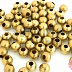 ลูกปัดทองเหลือง กลม 6มิล (1ขีด/380เม็ด)