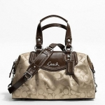 กระเป๋า COACH รุ่น ASHLEY SIGNATURE SATCHEL  F19242 : KHAKI