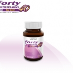 Vistra Forty ปรับสมดุลร่างกายด้วยวิตามินรวม สารสกัดจากจมูกถั่วเหลือง วิตามินคนวัย 40