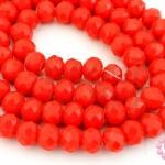 คริสตัลจีน ทรงซาลาเปา สีแดงขุ่น 6มิล(1เส้น)