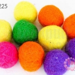 ลูกบอล Feit 25มิล #1 คละสี (5ลูก)