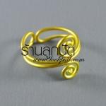 โครงแหวน ลวดทองเหลืองก้นหอยสองด้าน