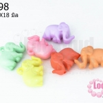อะคริลิคสีพาสเทล รูปช้าง 23X18มิล (60ชิ้น)