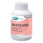Mega We Care MULTILIVES เมก้า วีแคร์ มัลติไลฟส์ 30แคปซูล วิตามินสำหรับสตรี ที่มีอายุ 40ปีขึ้นไป