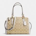กระเป๋า COACH MINI CHRISTIE CARRYALL IN SIGNATURE F36718
