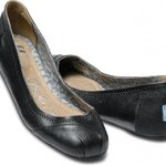 Camila Black Leather Ballet Flats