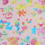 ผ้าคอตตอนลินินญี่ปุ่น ลาย เด็กผู้หญิง Popping Smoothie สีชมพูหวานเนื้อดีลายน่ารักมากค่ะ