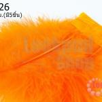 ขนนกมีริบบิ้น สีส้ม ยาว 5 ซม.(มี5ชิ้น)