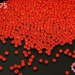 ลูกปัดจีน กลม สีแดง 2มิล #S(5กรัม)