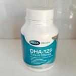 Mega We Care DHA-125 Tuna Oil 100 แคปซูล อาหารเสริมบำรุงสมอง สำหรับสตรีมีครรภ์และลูกน้อย ** ขายดี