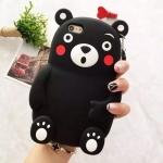 ** Pre-order ** เคส iPhone 6/6s, iPhone 7 ลาย Kumamon 3D สีดำ