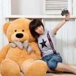 ตุ๊กตาหมียิ้ม ตุ๊กตาตัวใหญ่  สีน้ำตาลอ่อน ขนาด 1.2 เมตร