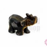 หินไทเกอร์อาย ช้าง 24X50มิล (1ชิ้น)