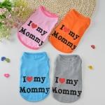 เสื้อยืดI love mommy เทาไซด์ M