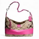 กระเป๋า COACH รุ่น SIGNATURE STRIPE HOBO F23769