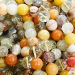 หินไหมห้าสี 12 มิล ยาว 35 ซม มี 29 เม็ด (จีน)
