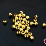 ลูกปัดโลหะ สีทอง กลม 4มิล (1ขีด)