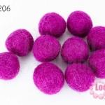 ลูกบอล Feit 20มิล #2 สีม่วงเข้ม (5ลูก)