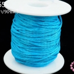 เชือกหางหนู สีฟ้า 2มิล(1หลา/90ซม.)