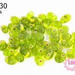 ลูกปัดแก้ว ทรงหยดน้ำ สีเขียวขี้ม้า 6x8 มิล (1ขีด/100กรัม)