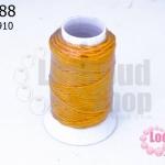 เชือกเทียน ตราลูกบอล(ม้วนเล็ก) สีเหลืองทอง 910(1ม้วน)