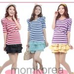 MK288 เสื้อให้นมแฟชั่นเกาหลี  มีให้เลือก 3 สี แดง ฟ้า ม่วง ลายสลับขาว ด้านหน้าเปิดมีซิปซ่อนอย่างดีให้นมได้สะดวก เนื้อผ้านิ่มใส่สบายค่ะ