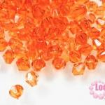 คริสตัลพลาสติก ทรงไบโคน สีส้ม 6 มิล