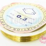 ลวดดัด ทองเหลือง เบอร์ 0.3 ยาว 10 หลา