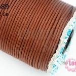 เชือกค๊อตต้อน สีน้ำตาล 2มิล (1ม้วน/100หลา)