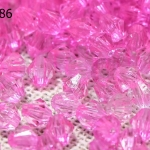 คริสตัลพลาสติก สีชมพูเข้ม 4มิล (4,509เม็ด)