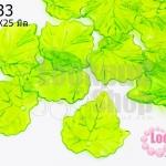 จี้ใบไม้ พลาสติก สีเขียวอ่อน 24X25มิล(1ขีด/208ชิ้น)