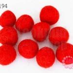 ลูกบอล Feit 15มิล #3 สีแดง (5ลูก)