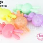 อะคริลิคสีพาสเทล กระต่ายน้อย 22X50มิล (17ชิ้น)
