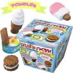 Kutsuwa eraser kit : ชุดทำยางลบ ไอศครีม (ใช้ไมโครเวฟ) !!!ทานไม่ได้!!!